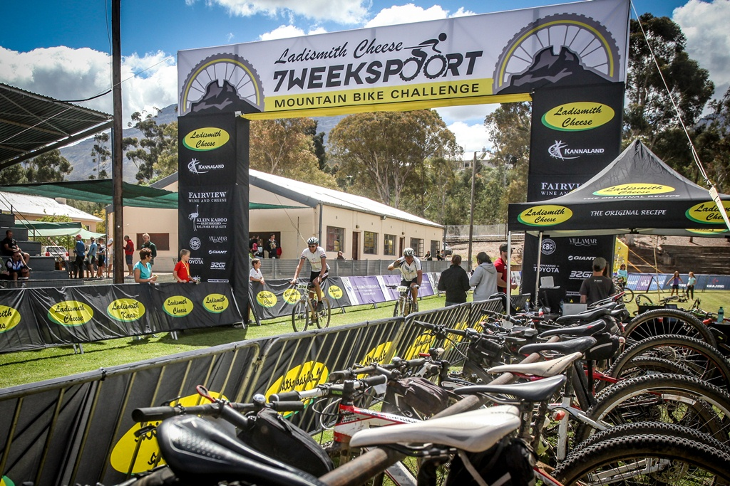 The Ladismith Cheese 7Weekpoort MTB Challenge's finish venue has moved from the Ladismith High School to the Shalom Academy for the 2017 event. Photo by Oakpics.com.